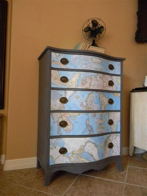 Decoupage Furniture With Maps - 13 best images about decoupage on decoupage