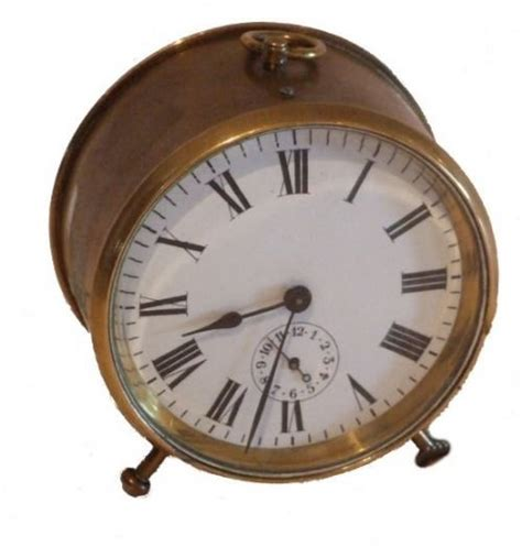 brass alarm clock 42090 sellingantiques co uk