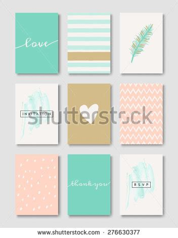 pastel color card templates set wedding invitation card templates pastel stock vector