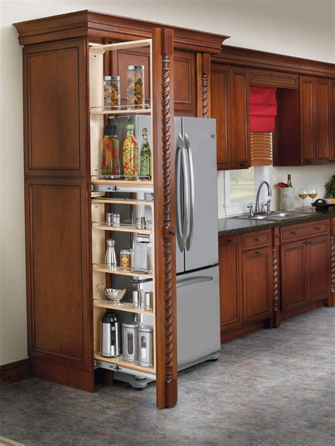 Roll Out Kitchen Cabinet | rev a shelf 6 quot tall filler pull out with adjustable