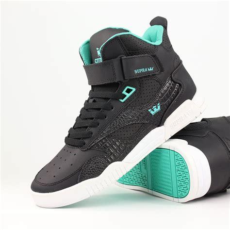 supra shoes supra shoes bleeker high top black atlantis blue white