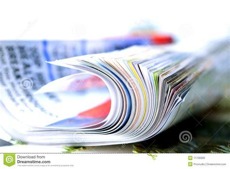 magazine folded folded magazine stock photo image 11709300