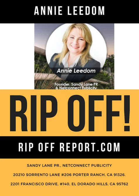 Rip Report by Ripoff Report Pr Complaint Review Porter Ranch California