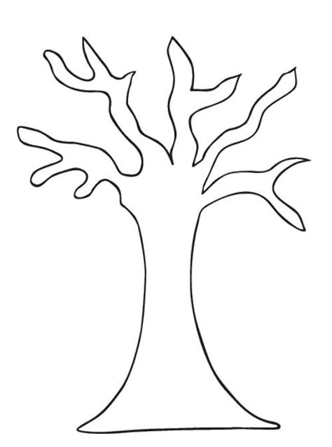 Tree Pattern Without Leaves Coloring Page Tree Tree Trunk Coloring Page