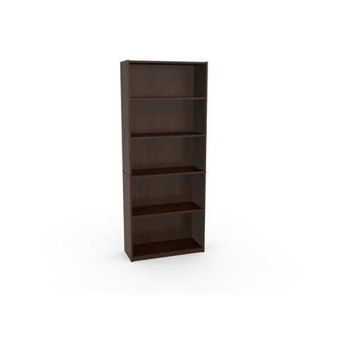 shop ameriwood 5 shelf bookcase black forest at lowes