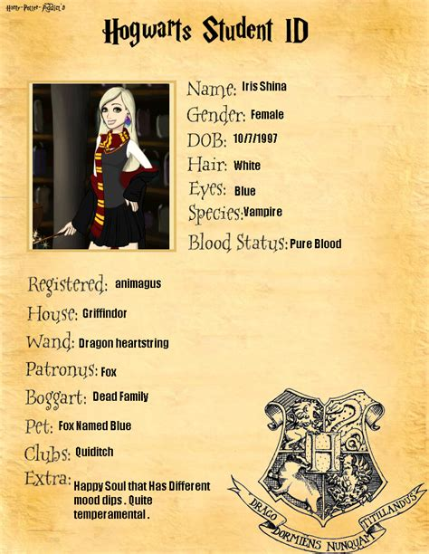 iris shina hogwarts oc by shadamybelong on deviantart