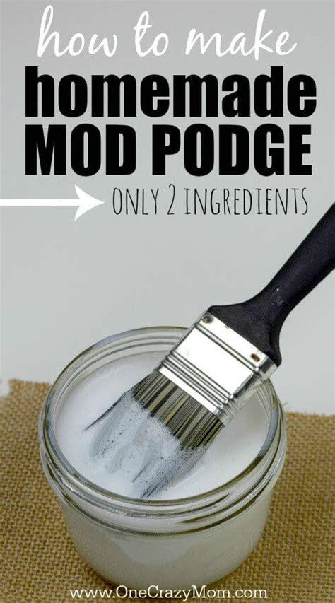 diy mod podge recipe how to make mod podge only 2 ingredients