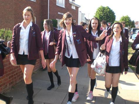 candid uk uk schoolies in skirts and knee socks