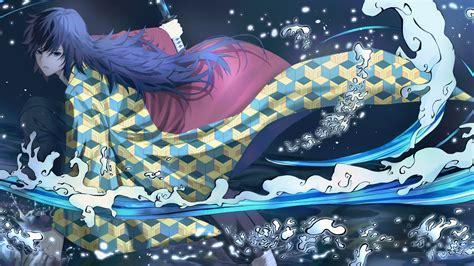 demon slayer boy giyuu tomioka  sword   hd anime