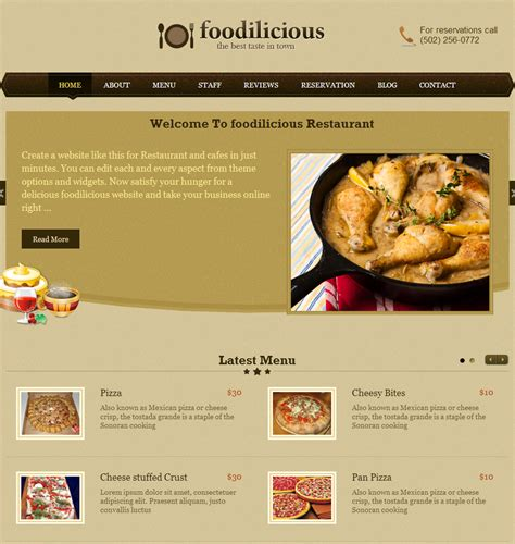 web cuisine restaurant web design top level web design