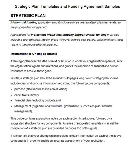 strategic planning process template 4 free word pdf