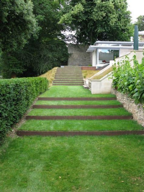 Contemporary terraced staircase Ironart of Bath