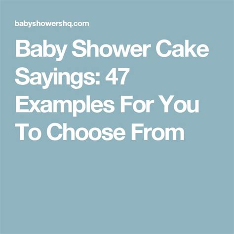Baby Boy Shower Cake Sayings by Best 25 Baby Shower Cake Sayings Ideas On