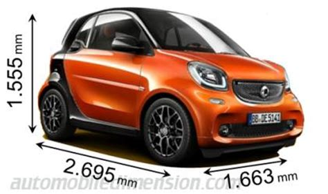 what is the length of a smart car dimensions of smart cars showing length width and height