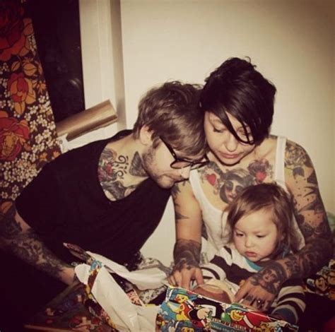 tattooed couples tumblr boy child family image 414665 on favim