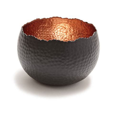 hammered copper bowl by life of riley notonthehighstreet com