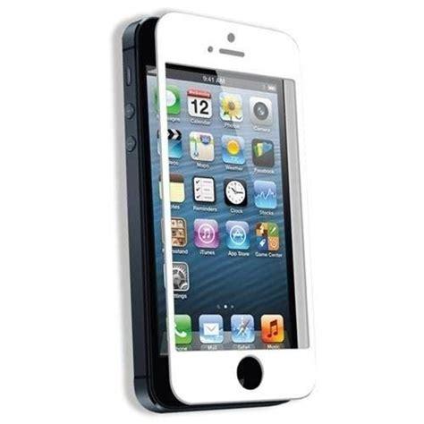 Tempered Glass Iphone 5c tempered glass iphone 5 5s 5c white discoazul