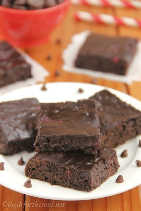 dark chocolate raspberry brownies fudgy dark chocolate raspberry brownies amy s healthy baking