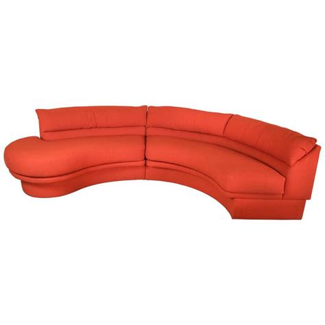 Crescent Shaped Sofa by Vladimir Kagan For Directional Crescent Shaped Sectional