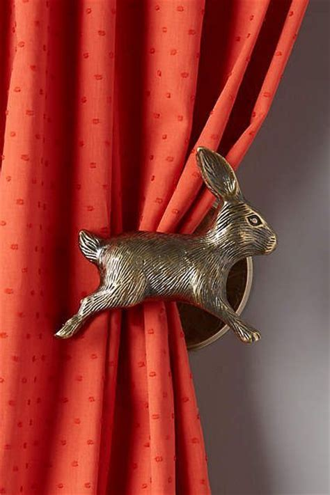 rabbit curtain tie backs curious rabbit tieback home hardware and bunnies