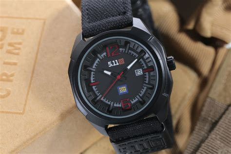 Jam Tangan 5 11 Black Wolf jual jam tangan 511 tactical analog turn back crime tali