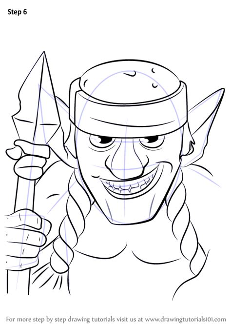 Learn How To Draw Spear Goblins From Clash Royale Clash