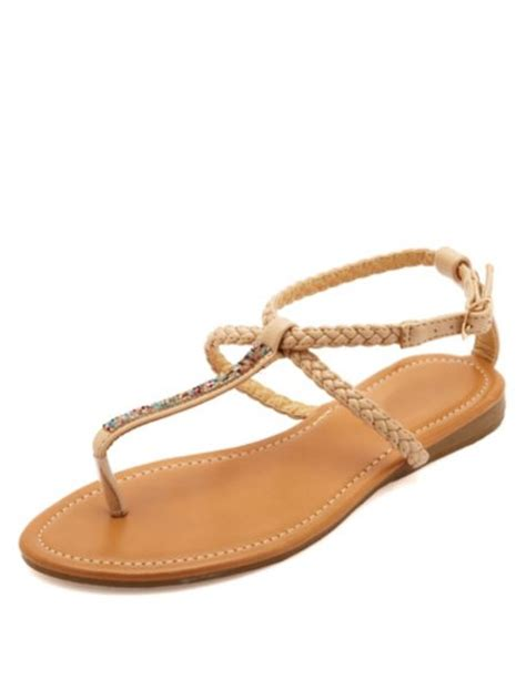 russe sandals braided bejeweled t sandals russe