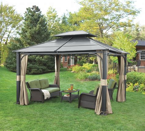 backyard gazebos wonderful hardtop gazebo for backyard ideas iron hardtop