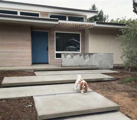 Large Patio Slabs Building A Modern Entry Approach Context Concrete