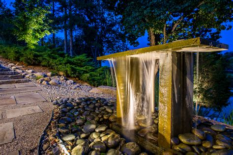 zen modern water feature lotus gardenscapes