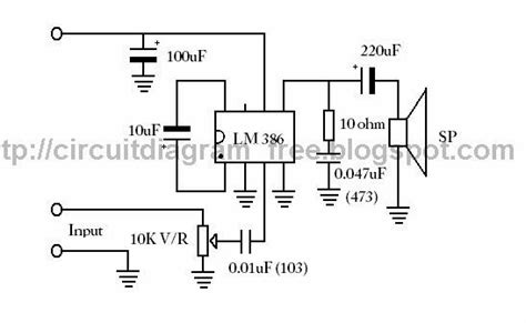 electronic circuit diagrams lm ic audio amplifier