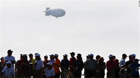 Wildfire Spectators Cause Problems us open 2017 blimp crashes as rickie fowler sets early pace cnn