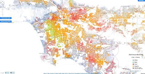 louisiana dot map racial dot map in la highlights segregation by neighborhood