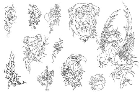 tattoo flash art black and white flash pictures to pin on