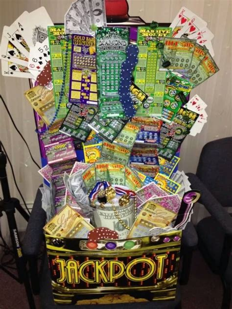 birthday themed raffle basket lottery scratch off basket great for fundraisers order