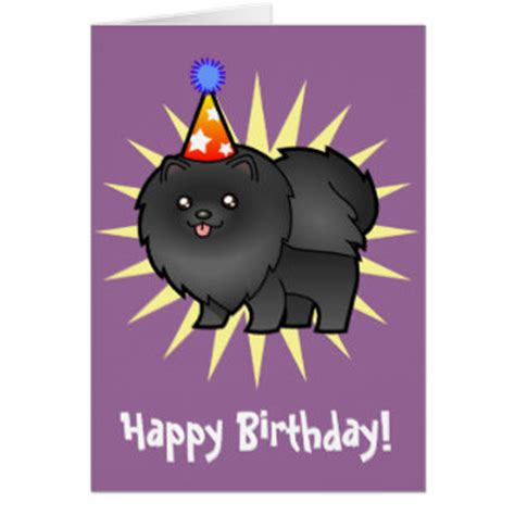 pomeranian birthday pomeranian cards pomeranian card templates postage invitations photocards more