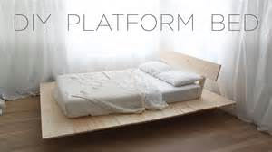 How To Make A Mattress by Diy Platform Bed Modern Diy Furniture Projects From