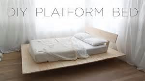 Diy platform bed modern diy furniture projects from homemade modern