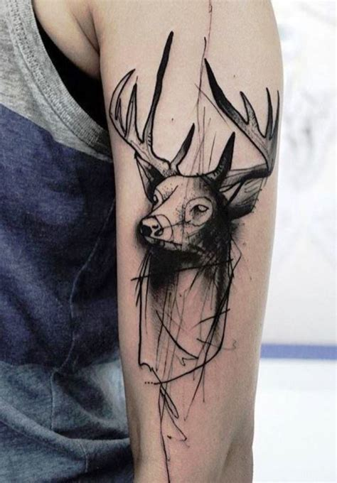 stag tattoo 30 deer tattoos tattoofanblog