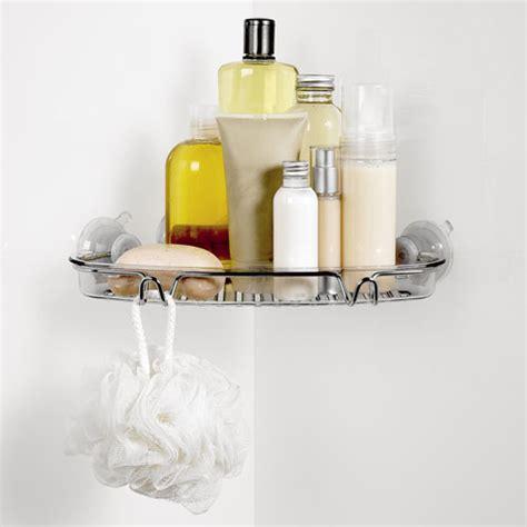 bathroom suction shelf oxo grips suction corner bath shelf in suction organizers