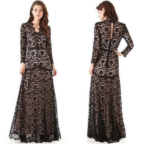 Geller In Temperley For The Premier The Air I Breathe by The Temperley Black Lace Gown Seen On Kate Middleton