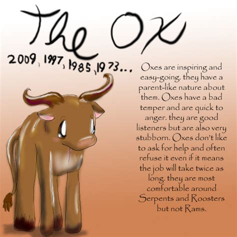 zodiac the ox by dei dara on deviantart