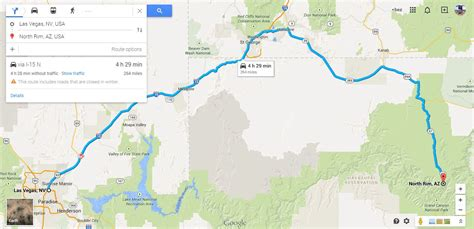grand maps las vegas from las vegas to grand by car bez mapy