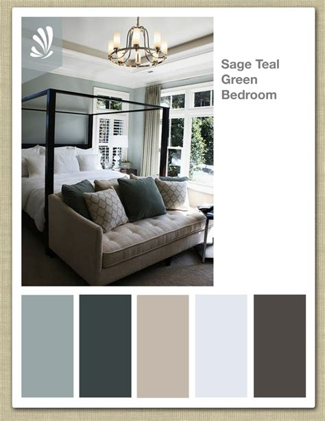 soothing bedroom color schemes sage cream oil gray and teal green color palette