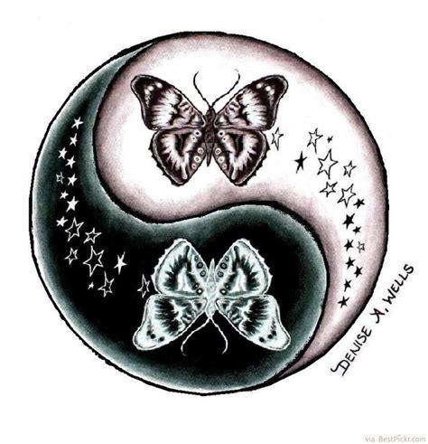 yin yang tattoos designs yin yang butterfly design http bestpickr
