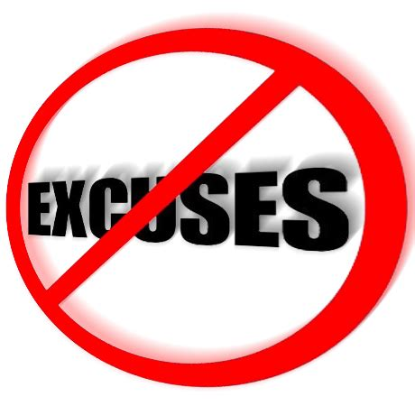 No Excuse lent 40 days of no excuses on the