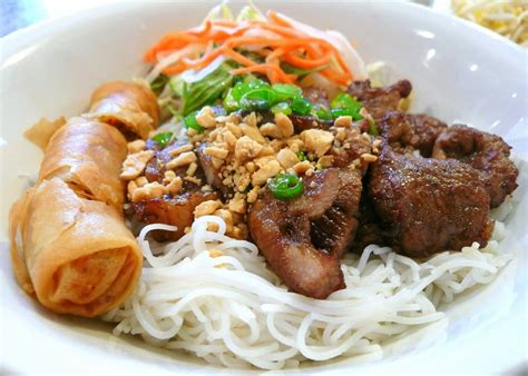 Bun Thit Nuong by Bun Thit Nuong Cha Gio Rice Vermicelli W Grilled Pork