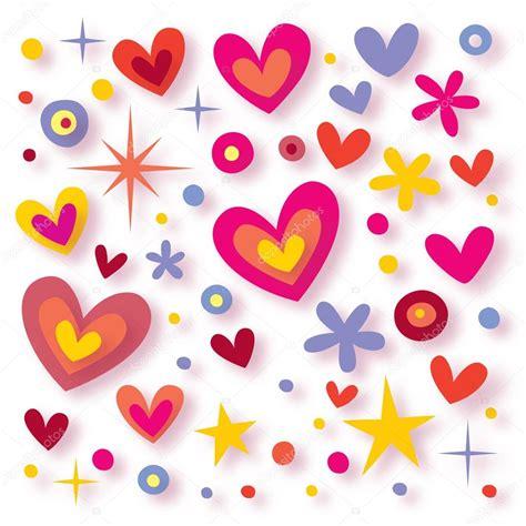 imagenes de flores y corazones infantiles flores corazones estrellas fondo transparente vector de