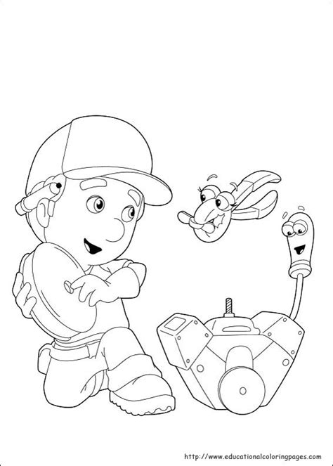 Handy Manny Coloring Pages Educational Fun Kids Coloring Handy Manny Coloring Pages