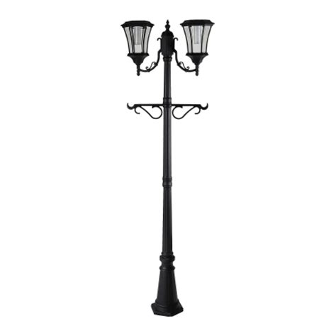 Outdoor Light Post Base Sunergy Solar L Post With Planter Base 50400356 Ace Hardware
